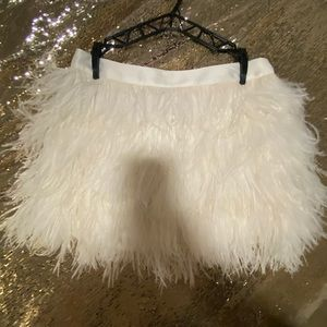 NWOT Express Feather Mini Skirt
